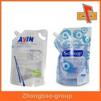 China manufacture up to 12 colors printing spout pouch for laundry detergent in professional design