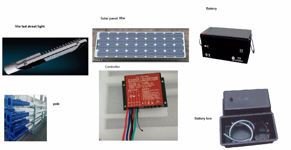 all in one integrated solar power led street light