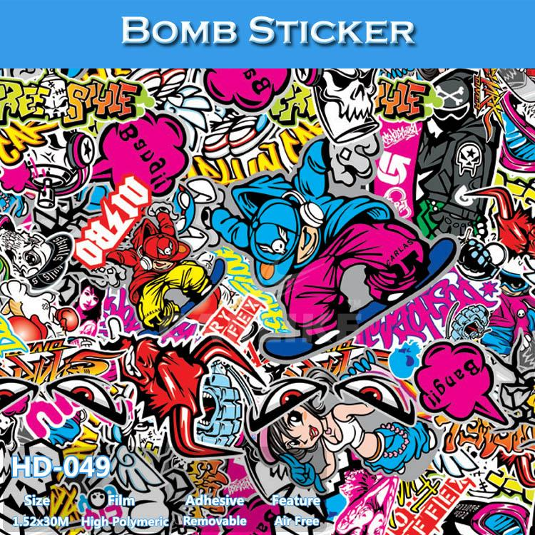HD-049 Car Body Side Design Bomb Sticker Automobiles & Motorcycles