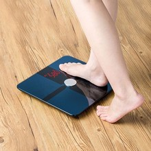 China Unique OEM Manufacturer 180kg High Quality Body Analysis Digital Bathroom Scale Glass Electronic