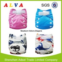 Alva Hook and Loop Fastener Newborn Diaper Bulk Diapers for Sale Newborn AIO Cloth Diaper