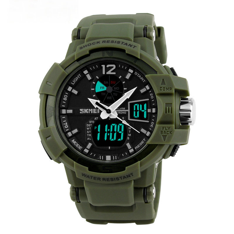 SKMEI 1040 Men Multi-function Sports Diving Watches Fashion LED Digital Military Wristwatch Relogio
