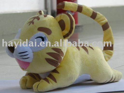 Movable tiger plush toy
