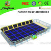 Blue ocean of toys for kids active trampoline of exercise