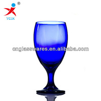 colored glass goblets