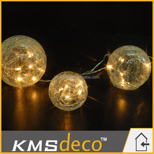Hot sale wedding decoration hanging glass ball string lights