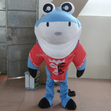 Hola tattoo blue shark costume/shark mascot costume