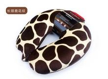 animal printing travel pillow with removable covers