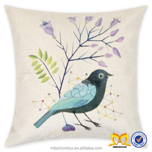 Bird And Flower Square Cotton Linen Cushion Cover Wholesale Bohemian Home Decor