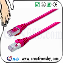 copper Red ftp cat 6 patch cord network cable