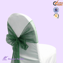 wedding chair cover and organza sash