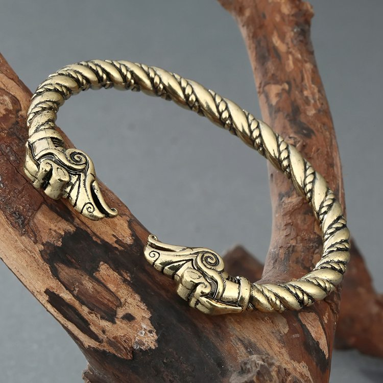 QM-010 European Jewellery Bangles And Bracelets Gold Dragon Bangle Bracelet