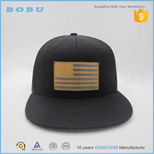 China Wholesale Customize Snapback hats leather patch design caps