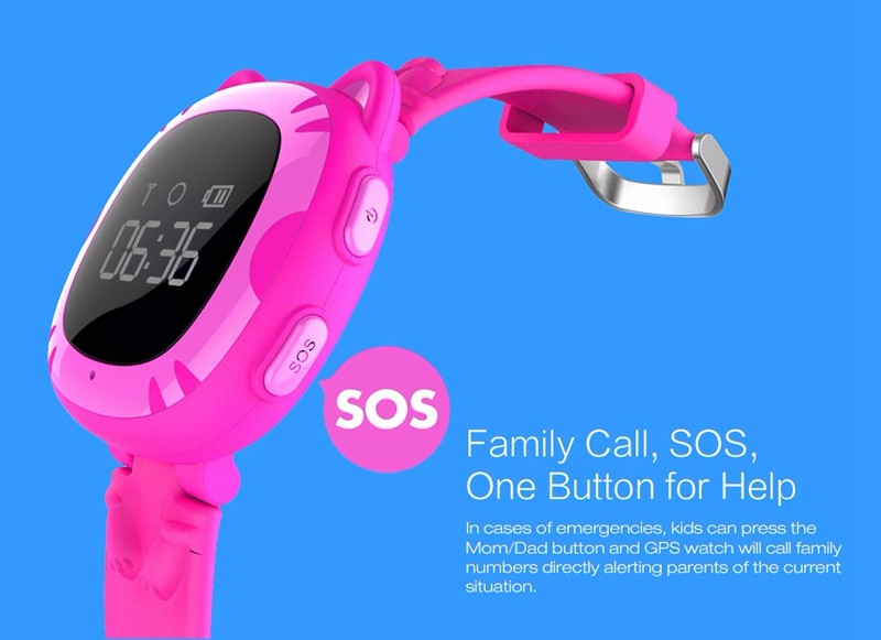 SMA GPS Tracker Watch For Kids SOS Emergency Anti Lost GSM Smart Mobile Phone App For IOS & Android Smartwatch Wristband