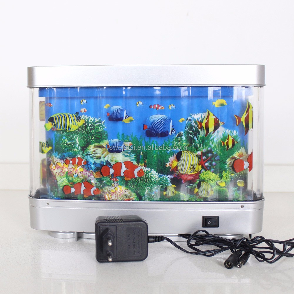 6w Battery Powered Decorative Rotating Lamp Fake Fish Tank