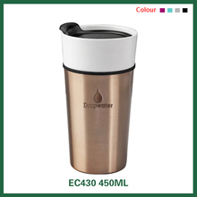 Funny china white heat resistant stainless steel cover ceramic coffee mug/coffee cup with logo printing