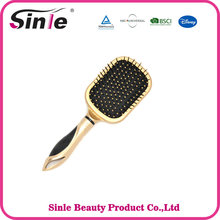2017 personalized modren design top quality custom golden hair brush with mirror