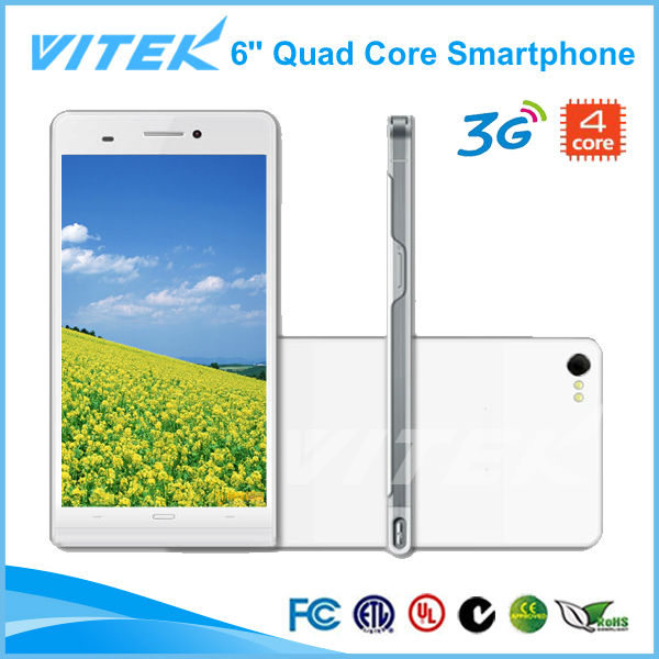 MTK6589T 3G Quad Core 6 inch Screen Smartphone