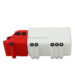 Promotional custom PVC truck shaped USB flash drive 4gb 8gb 16gb 32gb