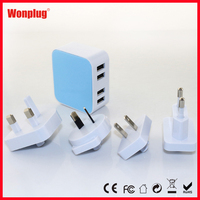 4-Port USB Charger Manual Cell Phone Charger