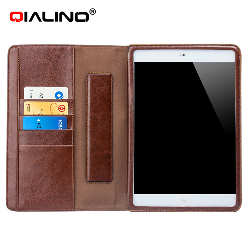 2016 new Qialino Genuine Leather for iPad air case