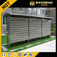 Stainless Steel Outdoor Waterproof Mailboxes For Residential Apartment