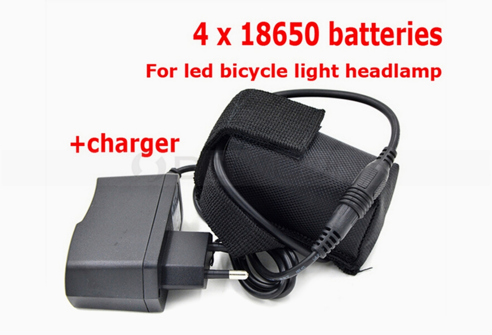 Max Run 4 Hours Bicycle Mining Light Head Lamps 8.4V Battery Pack with Charger