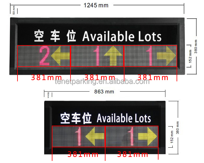 P10 indoor led display Tenet Head up display for parking slots variable message sign