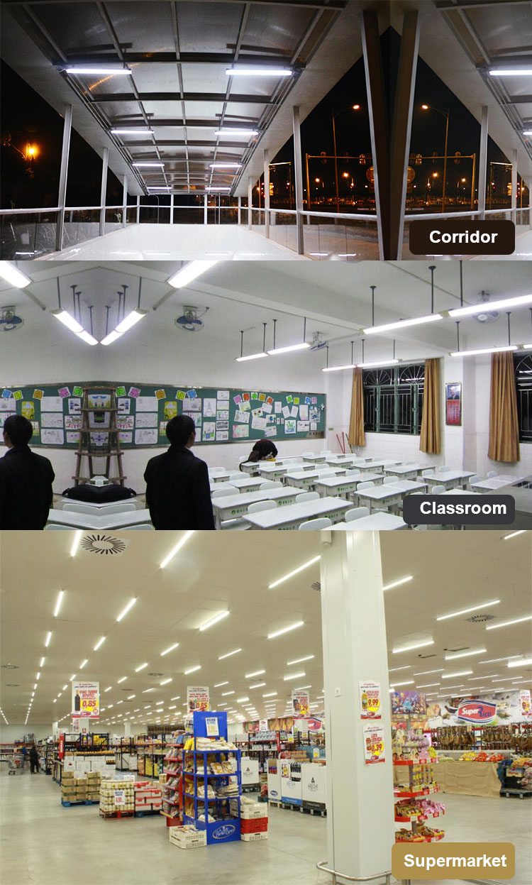ce rohs high brightness 0.6M 0.9M 1.2M 1.5M 2.4M 80lm/w 72w 8ft led corridor light