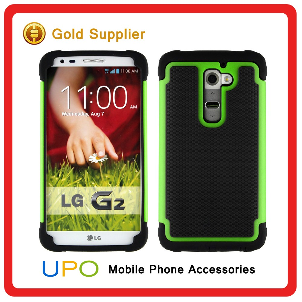 [UPO] Manufacturer Wholesale PC + Silicone+TPU Combo 3 in 1 Football Skin Shockproof Case for LG G2