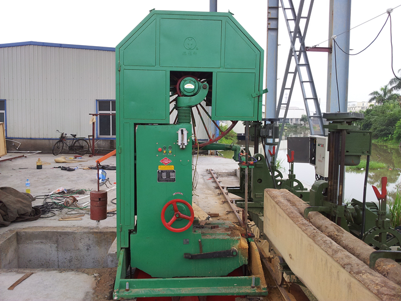 Vertical Band Saw Sapele Cutting Machine Price Woodworking Bandsaw Autoamtic Log Carriage For Bandsaw Mill
