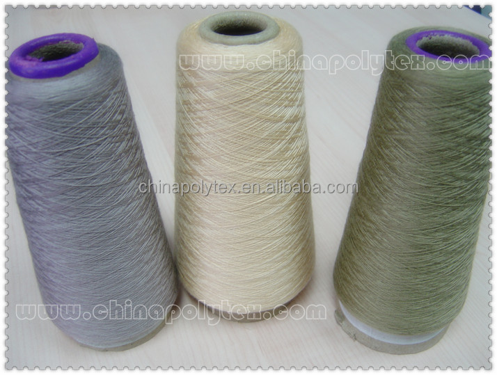 dope dyed polyester spun yarn in 18-30S for knitting