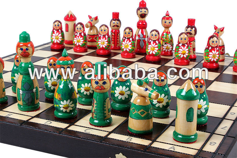 BABUSHKA chess (Belarussian doll styled chess pieces)