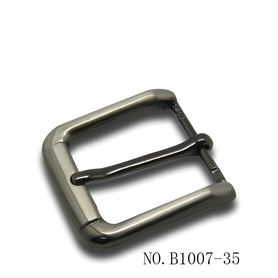 square style fashion no logo pin belt buckle for men