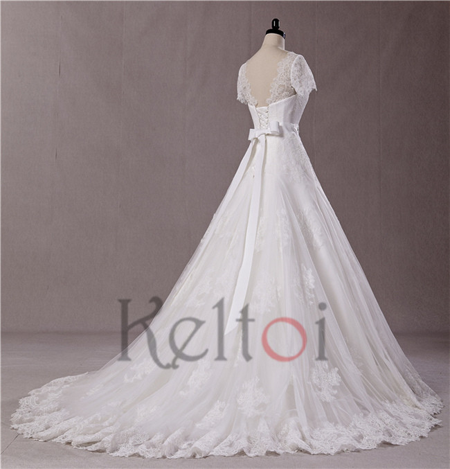 Design your own wedding dress with short sleeve for for Make your own wedding dresses