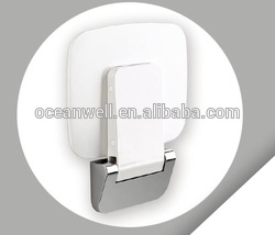 Soft close Plastic Toilet Seat Cover with Plastic Hinge