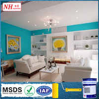 Seamless interior wall paint