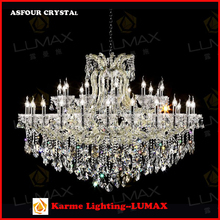 Karme Lumax Lighting Large Maria Therasa Crystal Chandelier Candle Lights Pendant Lamp for Villa, Resort, Hotel, Complex