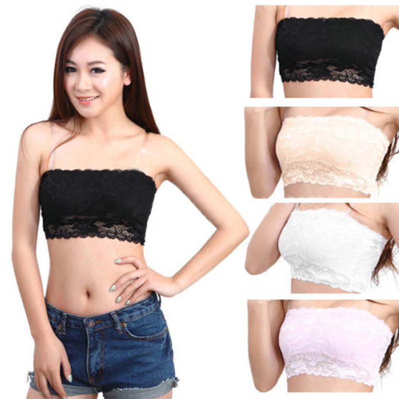 Women/'s Summer Bra Wrapped Chest Bra Tube Tops Strapless Casual Crop Tops