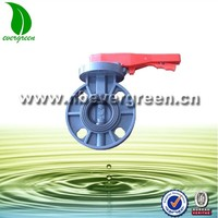 PVC butterfly valve with handle lever type
