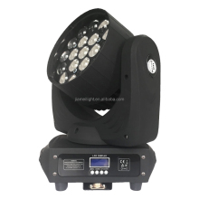 factory supply new arriving rotating color light for night club 19pcs rgbw 4in1 12w zoom led beam moving head