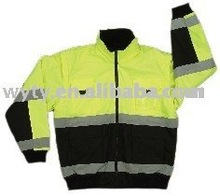 2016 high visibility reversible reflective Safety bomber jacket