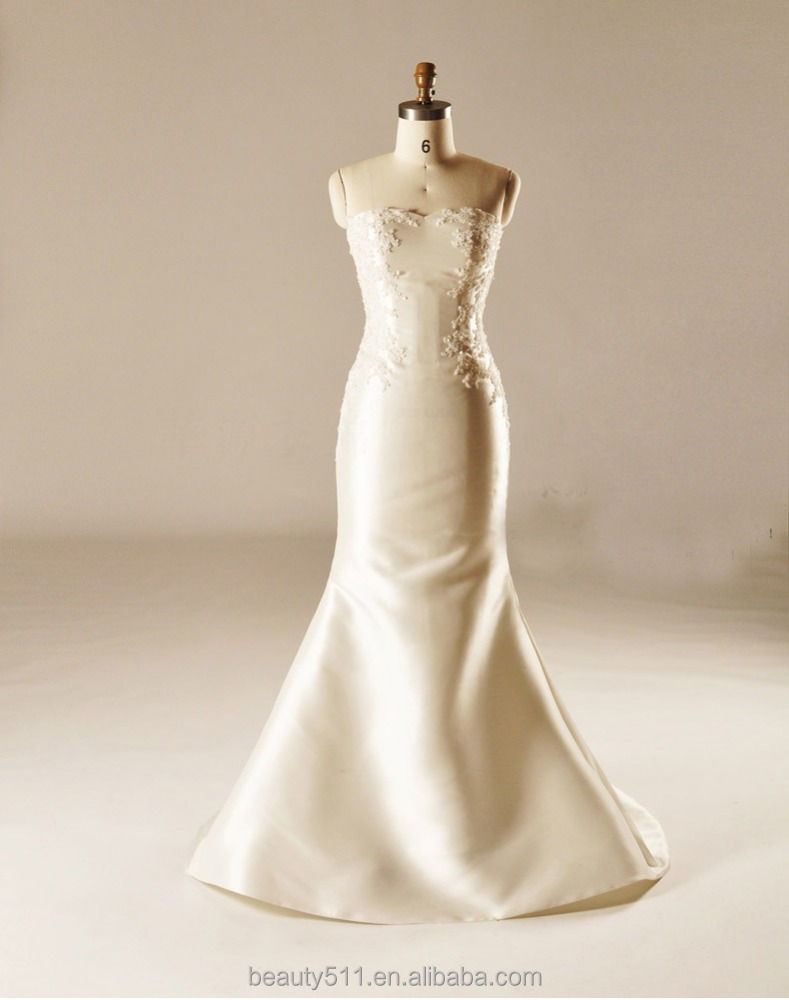 New Style Discount Off-The-Shoulder Wedding Dress Fishtail train Wedding Gown TS189