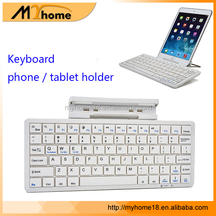 Portable Keyboard with Cell Phone Stand Holder For smartphone or tablets