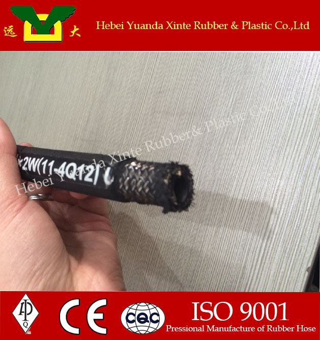 SAE high pressure rubber hose black welding hand press hydraulic hoses manufacturer for cheap Smooth Surface
