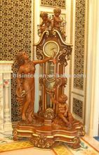 Luxury home floor clock,classical grandfather clock,wooden clock(BF02-50849)