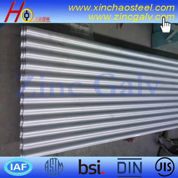 High end galvanized corrugated metal roofing sheet for shed