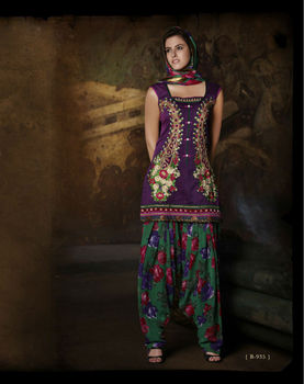 Readymade Punjabi Suit Purple colour