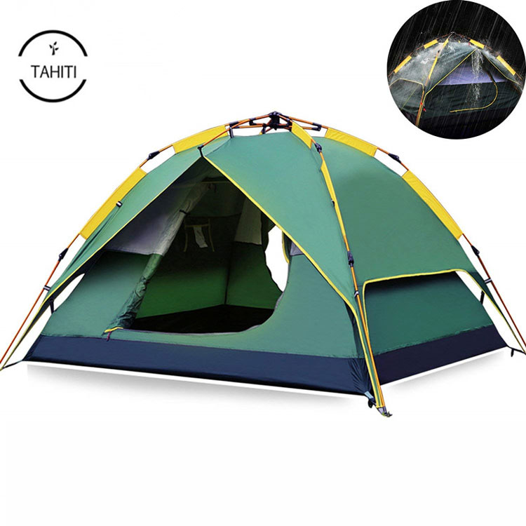 3 Or 4 Person 4 Season Outdoor Portable Waterproof Automatic Roof Tourist Tent