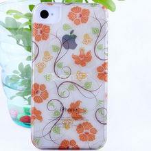 2013 special design hot selling water transfer decal flower pattern with transparent high quality clearly case